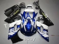 For YZF R6 1998-2002 ABS Injection Mold Bodywork Fairing Kit Plastic Blue White