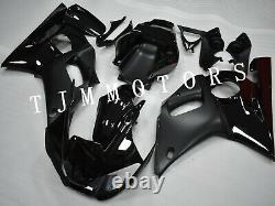 For YZF R6 1998-2002 ABS Injection Mold Bodywork Fairing Kit Plastic Cowl Black