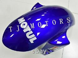 For YZF R6 2005 ABS Injection Mold Bodywork Fairing Kit Plastic Blue White Fiat