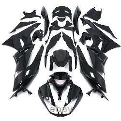 Gloss Black Injection Mold ABS Plastic Fairing For KAWASAKI Ninja 2009-2012 ZX6R
