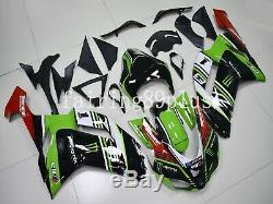 Green Black ABS Plastic Injection Mold Fairing Kit Fit for 2007 2008 636 ZX6R