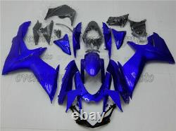 Injection ABS Mold Bodywork Fairing Kit Plastic Blue Fit for GSX-R 600/750 11-19