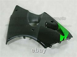 Injection Fairing Plastic Kit Fit for ZX-6R 2000-2002 Green Black ABS Mold aAO