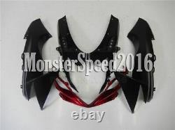 Injection Mold ABS Fairing Fit for Suzuki 2011-15 GSXR 600 750 Black Plastic Set