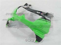 Injection Mold Bodywork Fairing Kit Plastic Black Green Fit for Ninja 250R 08-12