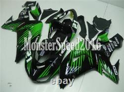 Injection Mold Fairing Bodykits Plastics Set Fit for 2006-2007 zx10r Green Black