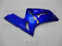 Injection Mold Fairing Fit for 2003-2004 Ninja 636 ZX-6R Blue Plastics Set aAC