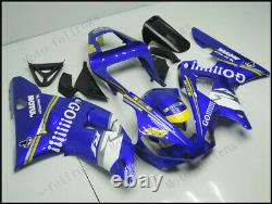 Injection Mold Fairing Fit for Yamaha 2000-2001 YZF R1 ABS Plastics Blue White