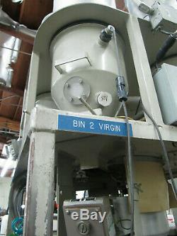 L-R Systems Inc. 4 Barrel Pellet Mixer Plastic Injection Molding