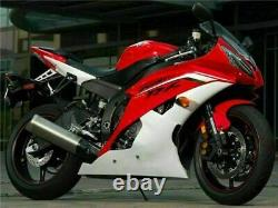 MS Injection Mold Plastic Red White Fairing Fit for Yamaha 2008-2016 YZF R6 e007