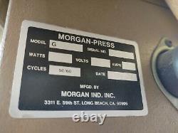 Morgan Press G-100T Plastic Injection Molding Machine 220V