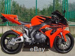 New Full Black Fairing for Honda 2006 2007 CBR1000RR Injection Mold Plastic qBC