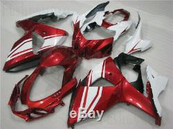 Pearl Red White Fairing Fit for 09-16 Suzuki GSXR 1000 K9 Plastic Injection Mold