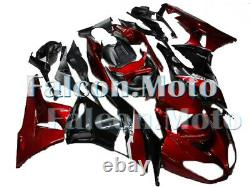 Pearl red black Injection Mold Fairing Plastic Fit for Ninja ZX-6R 2009-2012 aBT