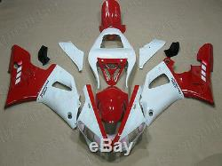 Plastic Fit for YAMAHA 2000 2001 YZF R1 ABS White Red Injection Mold Fairing b01
