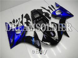 Plastic Injection Mold Black Blue Fairing Fit for YAMAHA 2003-2005 YZF R6 w10