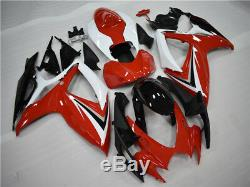Plastic Red Injection Mold Fairing Fit for Suzuki 2006-2007 GSXR 600/750 a023z
