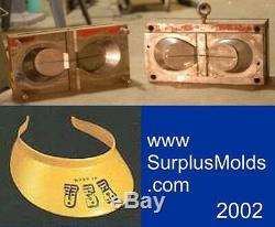 Plastic injection mold, 2 cavity visor