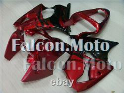 Red Black Injection Mold Fairing Fit for Ninja 636 ZX-6R 2000-2002 Plastics Set