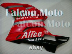 Red Black Injection Mold Plastics Fairing Fit for 2007-2012 Ducati 848 1098 1198