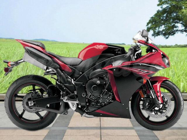 Red Black Injection Molding Plastic Fairing Fit For Yamaha 2012-2014 Yzf R1 E11