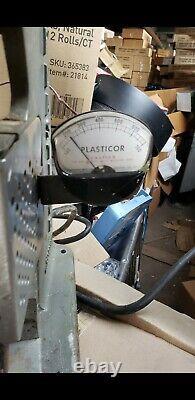 Simplomatic Plasticor PLA63 PLA 63 Plastic Injection Molding Machine Heats Up