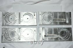 Soft Plastic Injection 8 Twister Tail 1 Cavity Mold with extra 2 cavtyTail Mold