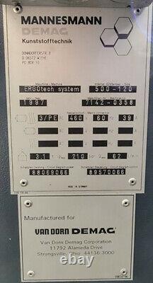 Van Dorn / Demag 500-120 Plastic Injection Molding System, 55 Ton, 1.9 Oz, 460V