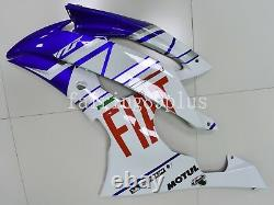 White Blue FIAT ABS Plastic Injection Mold Fairing Kit Fit for YZF R6 2008-2016