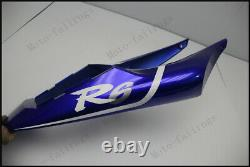 White Blue Injection Mold Fairing Fit for Yamaha 1998-2002 YZF R6 ABS Plastics