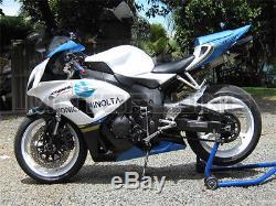 White Blue Injection Mold Fairing Plastic Kit for Honda 2006 2007 CBR1000RR kAE