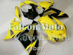 Yellow Black Fairing Fit for Ninja ZX14 2006-2011 Plastic Set Injection Mold aCB